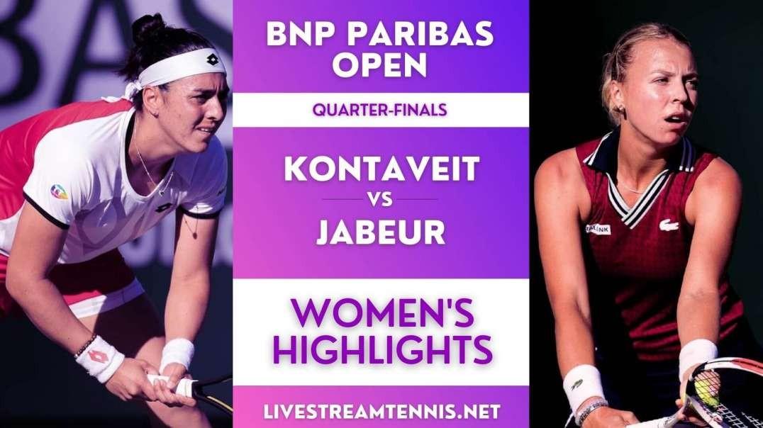 BNP Paribas Open Women Quarter-Final 4 Highlights 2021
