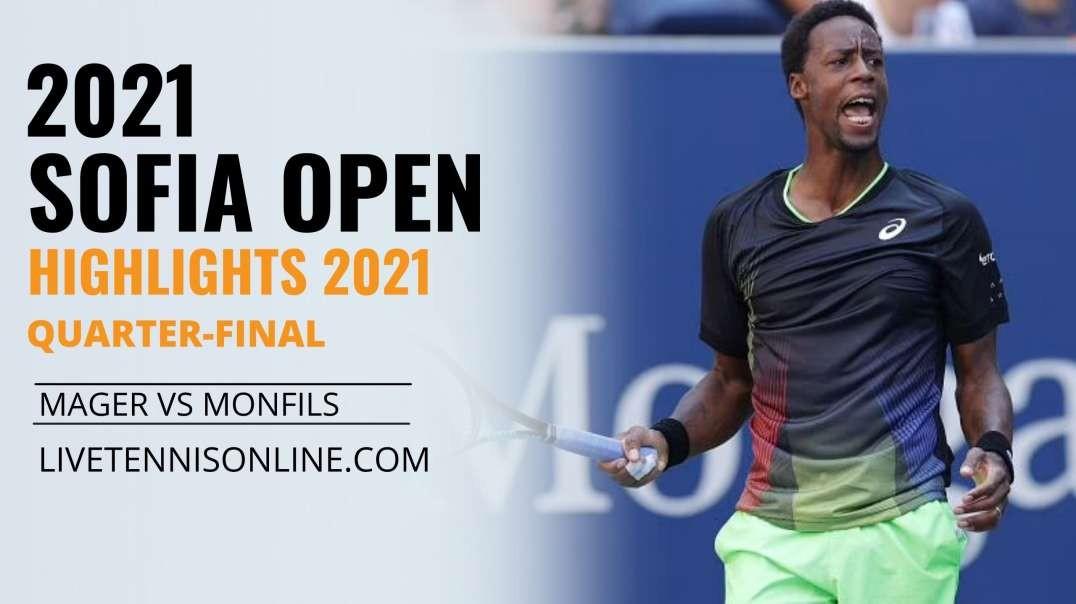 G. Mager vs G. Monfils Q-F Highlights 2021   Sofia Open