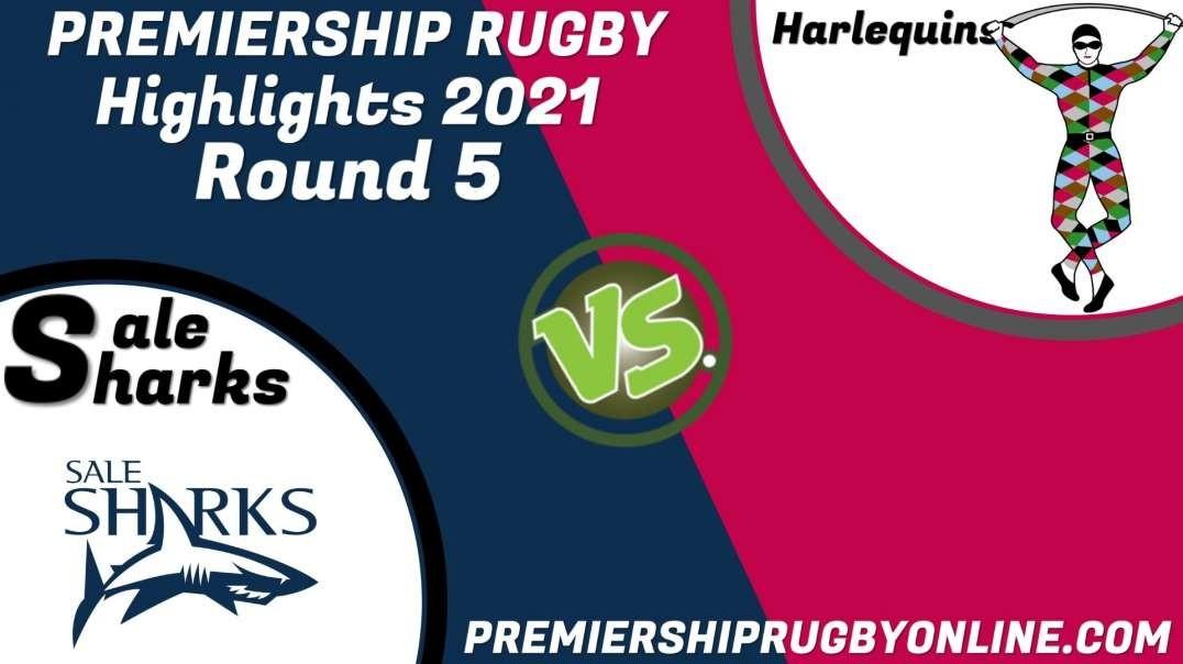 Sale Sharks vs Harlequins RD 5 Highlights 2021 Premiership Rugby