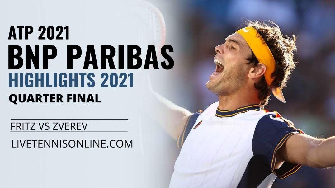 T. Fritz vs A. Zverev Q-F Highlights 2021 | BNP Paribas Open
