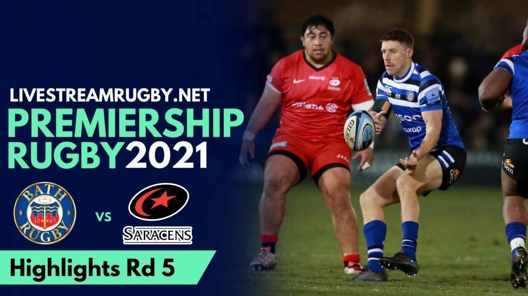 Bath vs Saracens Highlights 2021 | Rd 5 Premiership Rugby