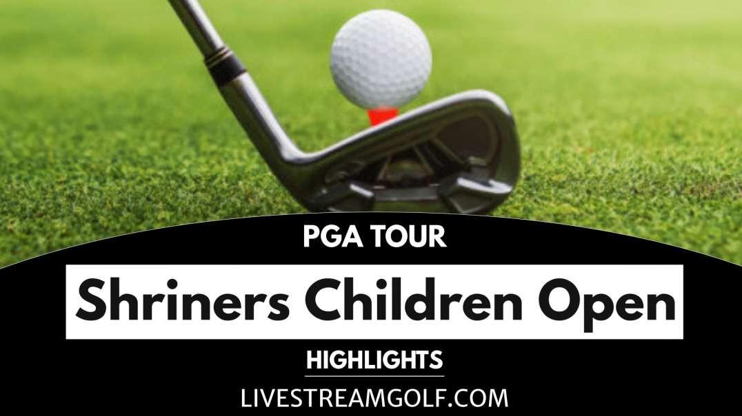 Shriners Children Open Rd 1 Highlights: PGA Tour 2021