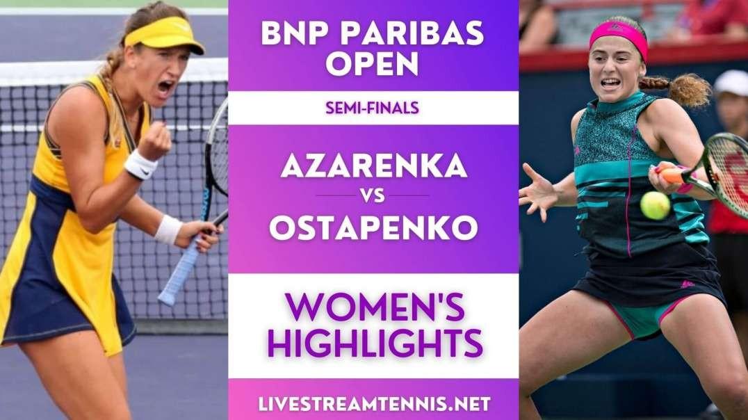 BNP Paribas Open Women Semi-Final 2 Highlights 2021