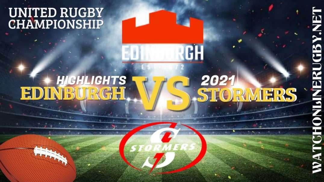 Edinburgh vs Stormers RD 3 Highlights 2021 United Rugby Championships