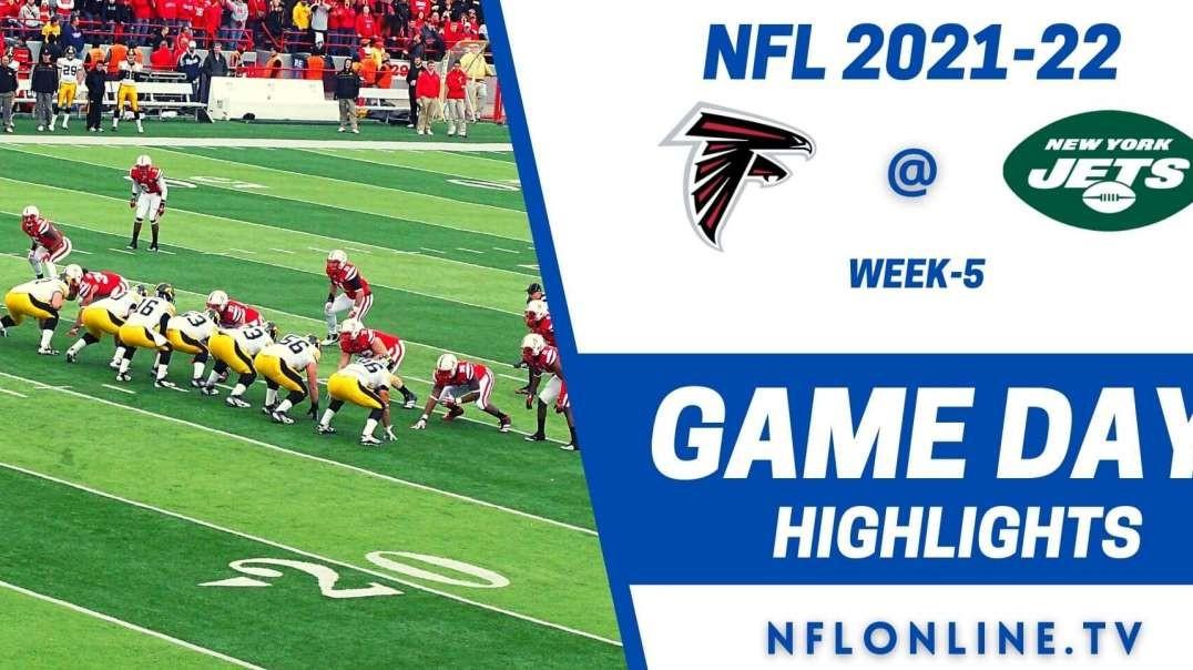 Atlanta Falcons @ New York Jets Highlights 2021 - NFL - Week 5