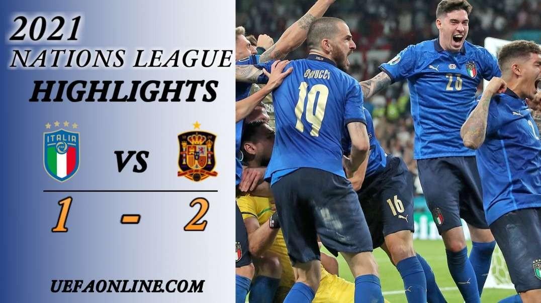 Italy vs Spain Highlights Semi Final 2021 | Nations League